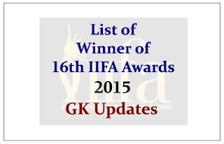 List of Winner of 16th IIFA Awards 2015