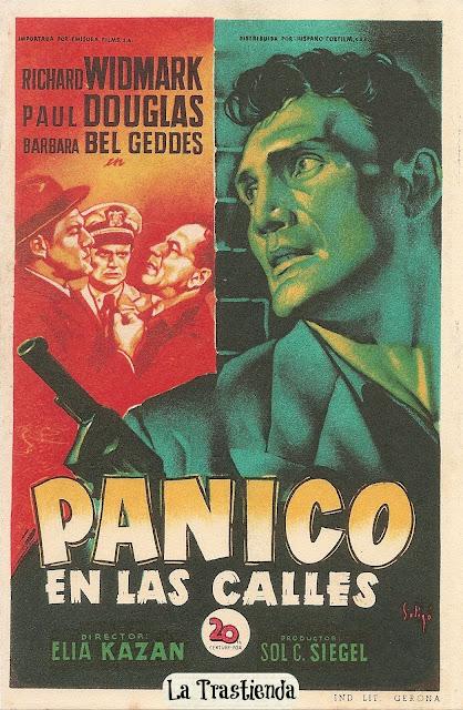 Programa de Cine - Pánico en las Calles - Richard Widmark - Paul Douglas