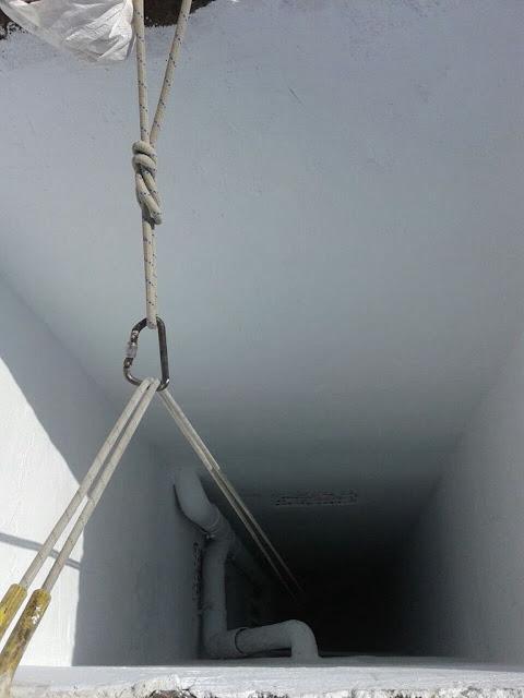 foto trabajos verticales en patinillos ventilación