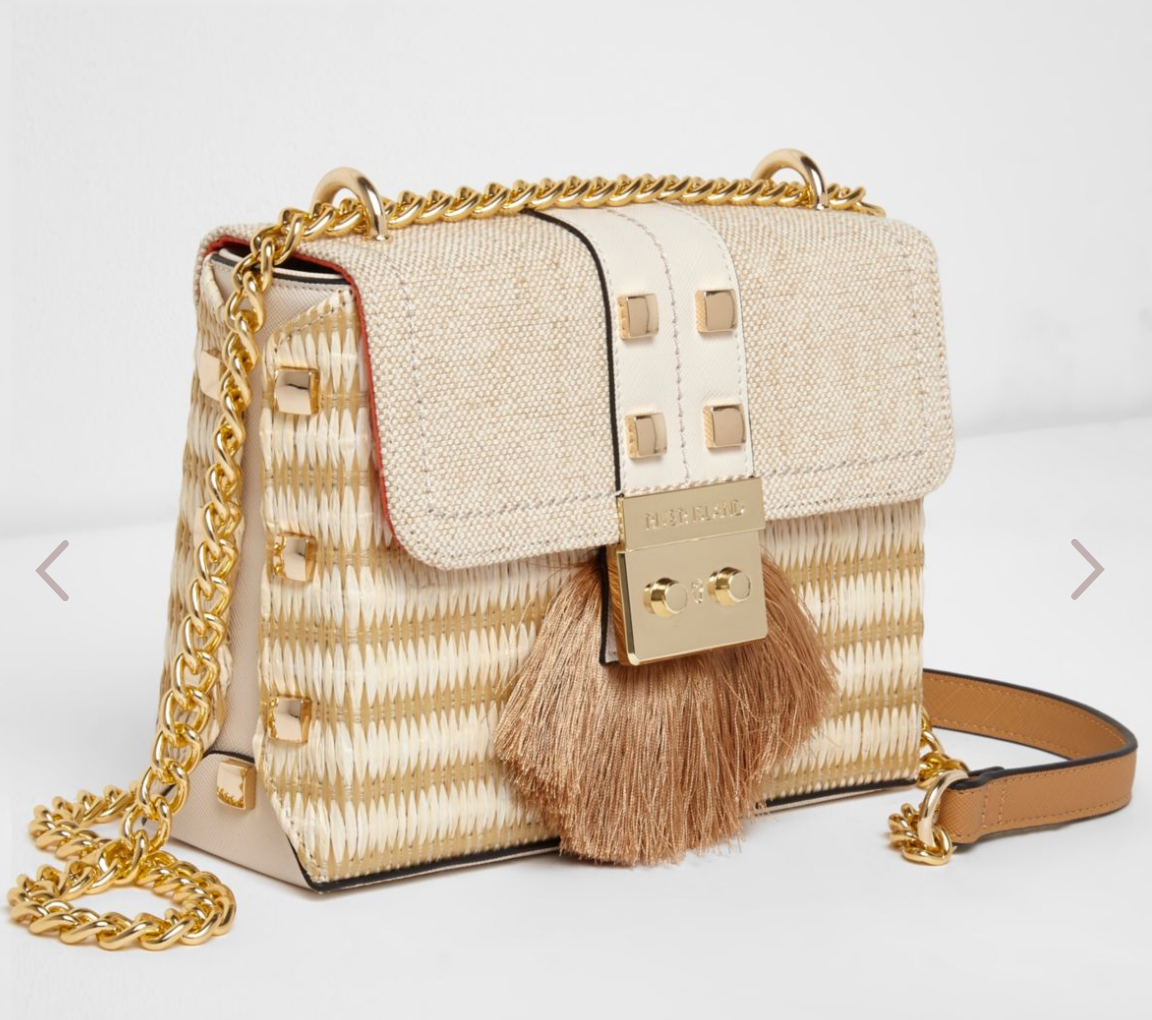 Woven crossover bag