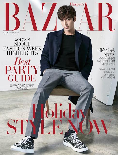 《Harper's Bazaar》12月份 李敏鎬