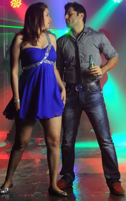 Gutta Jwala Blue Dress Photo