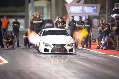 EKanooRacing's ProMod Lexus RCF Twin Turbo 3.91@199MPH on its first full pass @ 1/8 mile