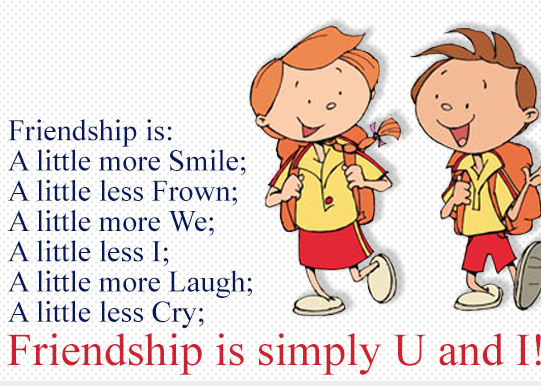 Friendship sms photo