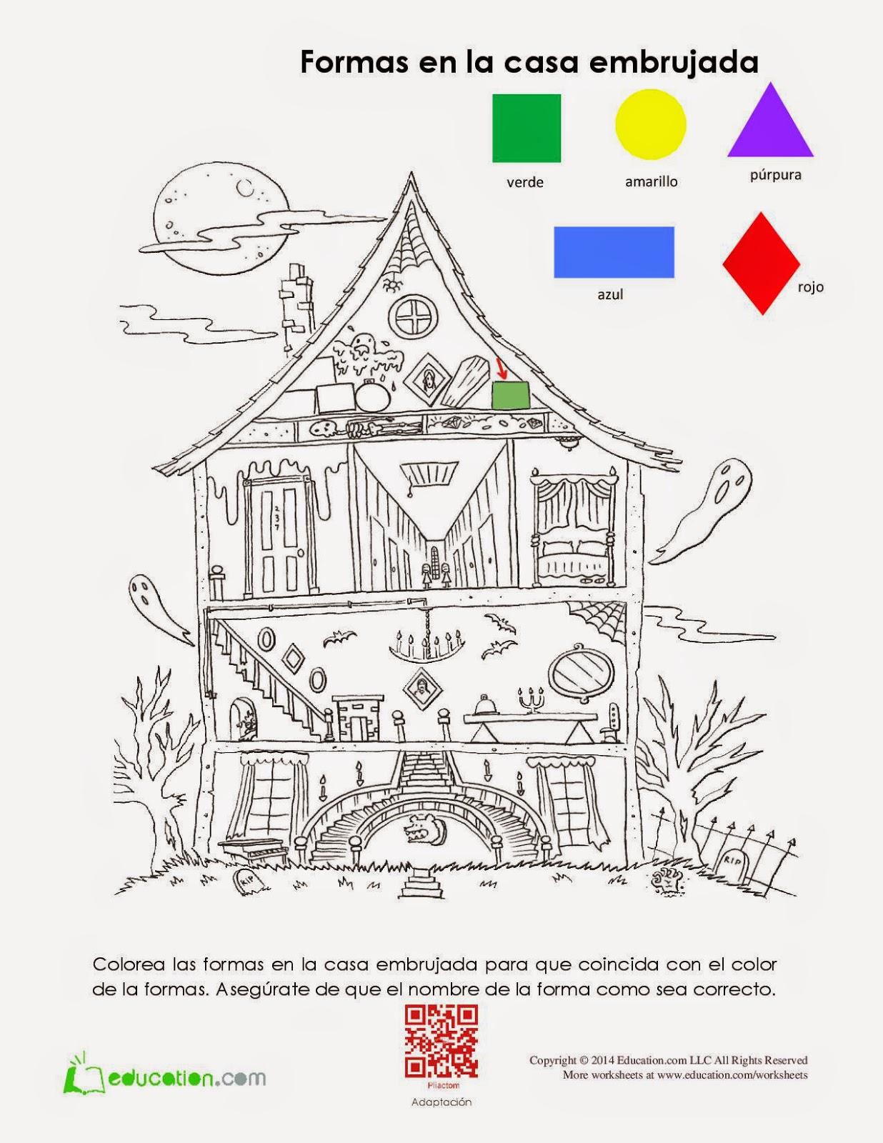 Figuras Geométricas En La Casa Embrujada