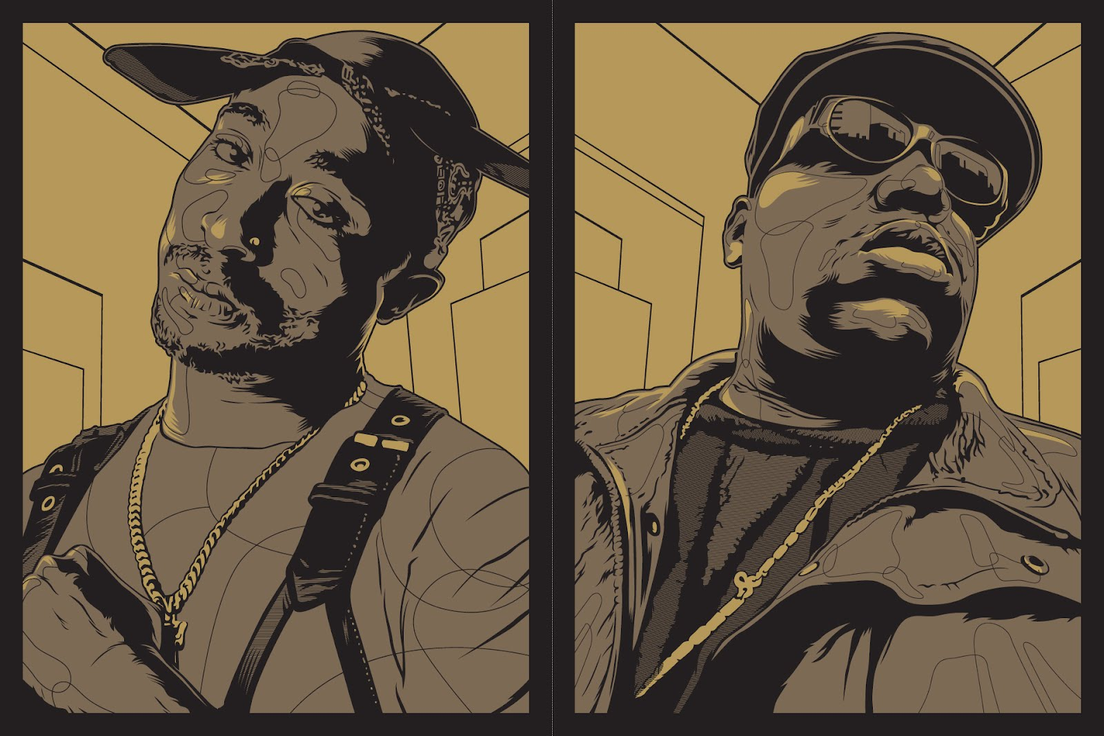 INSIDE THE ROCK POSTER FRAME BLOG: Biggie Tupac Joshua ...