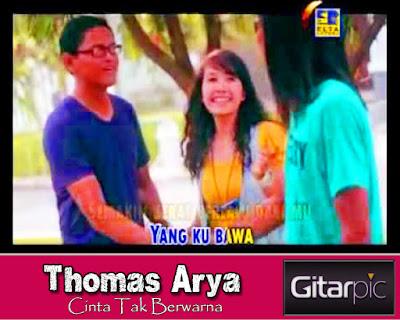 Chord Gitar Thomas Arya - Cinta Tak Berwarna