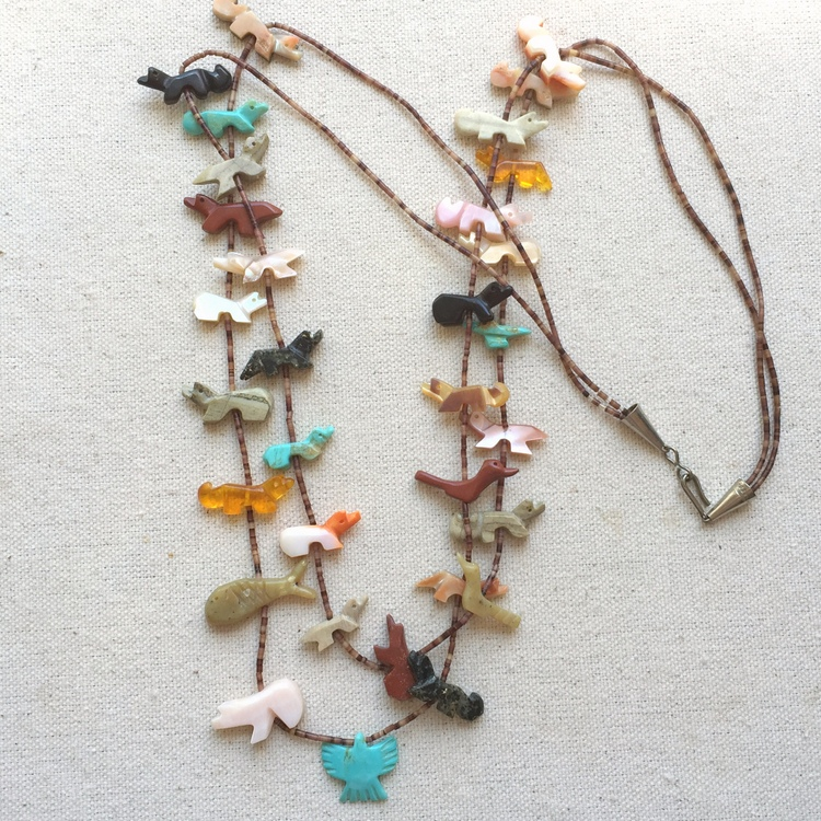 Native American Fetish Necklace 111