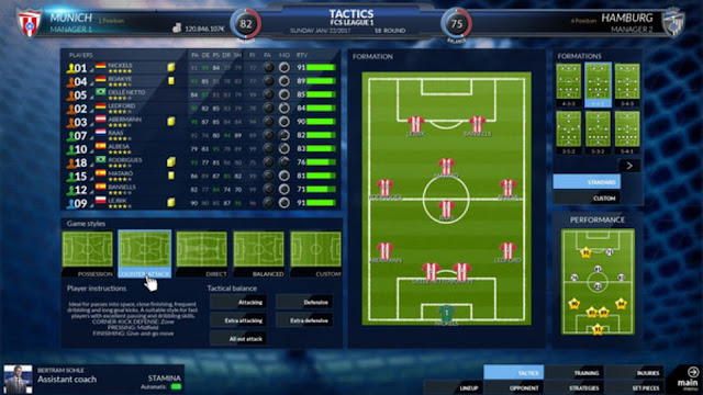Football Club Simulation 2017