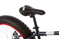 Adjustable Mongoose saddle with Quick Release lever on Mongoose Dolomite Fat Tire Bike
