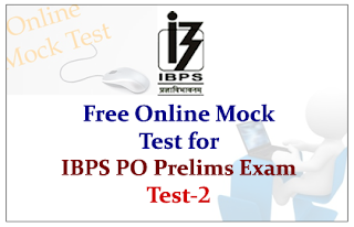 Free Online Mock Test for IBPS PO 2015 Prelims Exam - Test-2