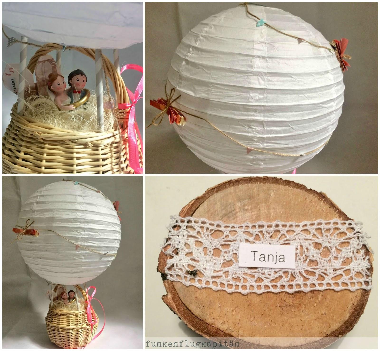 Heissluftballon Hochzeit Hochzeitsgeschenk Heissluftballon
