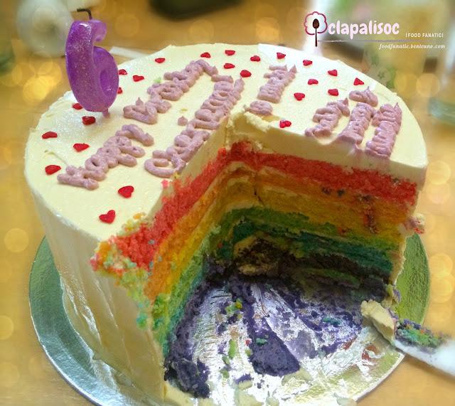 Rainbow Cake from Family Favorites Bakery