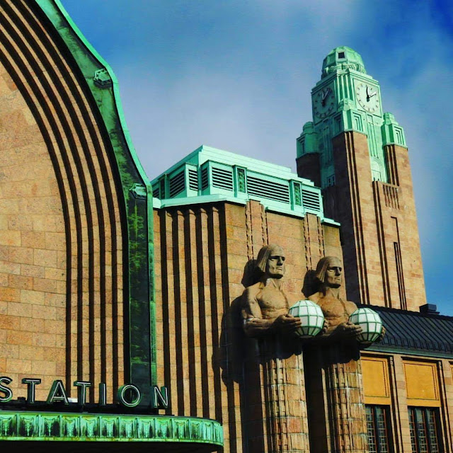 Art Deco train station in Helsinki, Finland