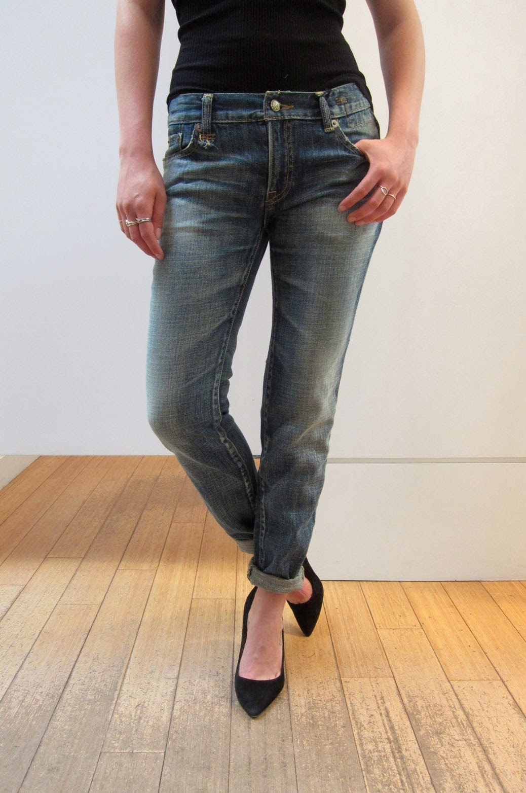 c4b8088659b2f9 They are amazing if you haven't tried them. The denim was made in Japan,  and don't have stretch in them! So quite different than the other R13  fabrics.