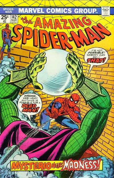 Amazing Spider-Man #142, Mysterio is back from the dead