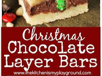 Christmas Chocolate Layer Bars
