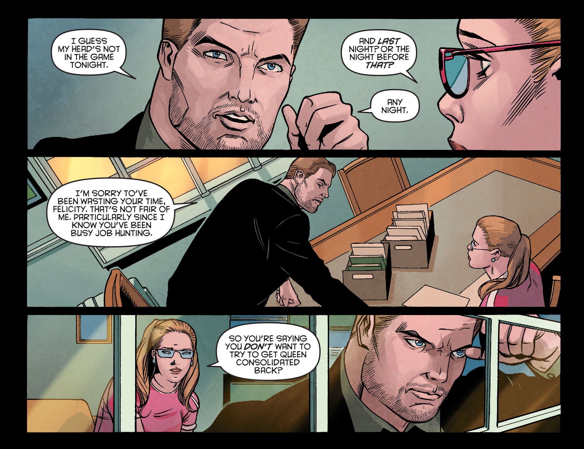 Read online Arrow: Season 2.5 [I] comic -  Issue #23 - 12