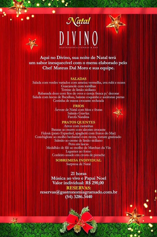 Restaurante Divino - Ceia de Natal 2014
