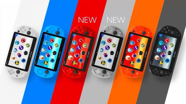 Llegarán nuevos colores a PSVita en Japón