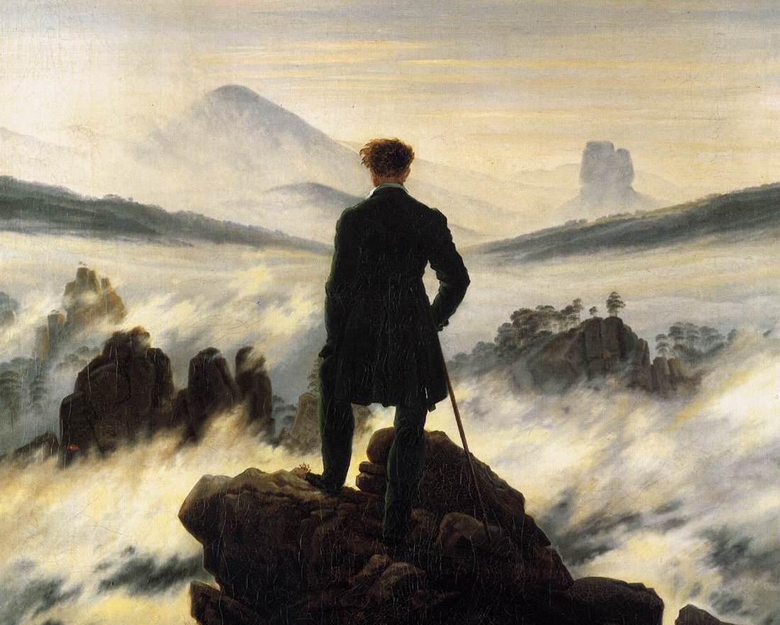 Caminhante sobre o mar de névoa, Caspar David Friedrich