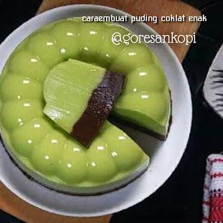 cara membuat pding coklat