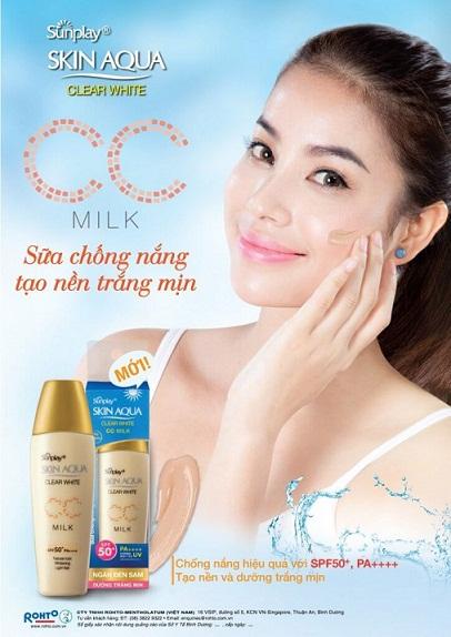 Skin Aqua Clear White CC Milk, sunplay, kem chống nắng, sunplay skin aqua, skin qua, kem chống nắng giá rẻ, kem chống nắng sunplay