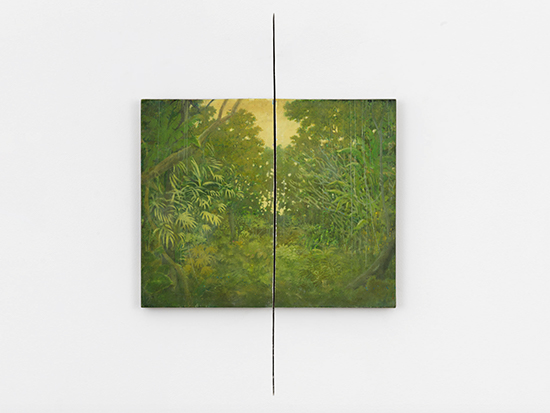 Francis Alÿs Cut, 1992-2015 Oil and encaustic on panel 40.6 x 49.8 cm