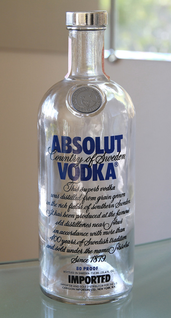 Absolut Vodka first bottle 1980