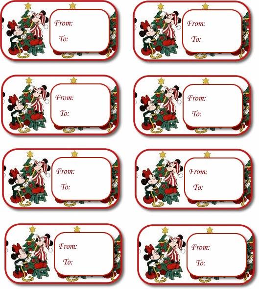 Etiquetas de Minnie y Mickey para Navidad, para Imprimir Gratis ...