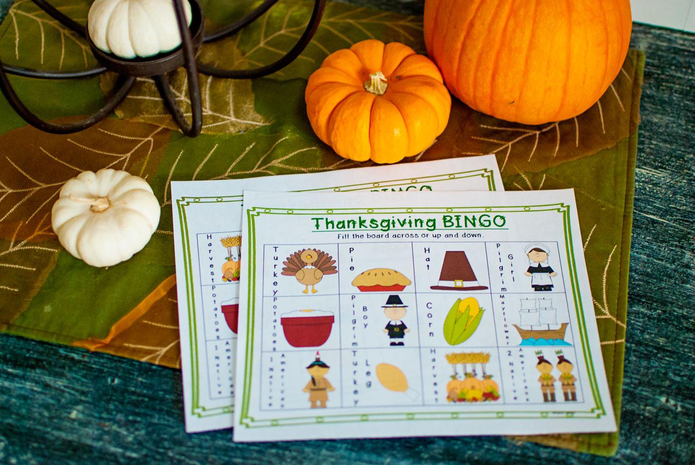 Kids Thanksgiving Bingo Game From TeacherSherpa