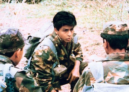 Shah Rukh Khan in the television series Fauji