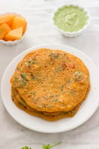savory wholewheat pancake goduma dosa godi dosai vegan indian breakfast