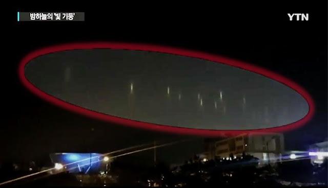 El radar local detectó un solo objeto inmenso, pero los testigos dijeron ver cientos de OVNIs