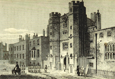 St James's Palace from The Beauties of England and Wales Vol X   by EW Brayley, J Nightingale and J Brewer (1814)
