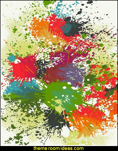 paint splatter Dynamic Rugs