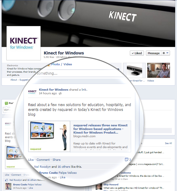 nsquared blog: nsquared featured on Kinect for Windows Blog!