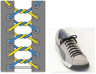Tali Sepatu Kusut (Knotted Lacing)