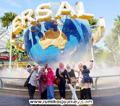globe universal studio di sentosa island singapura