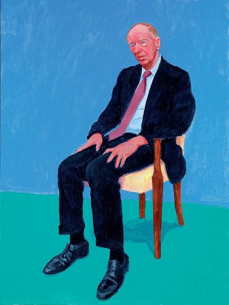 "David Hockney, ""Jacob Rothschild, 2014"" | obras de arte, pinturas, retratos, cuadros, portraits, pintores famosos."