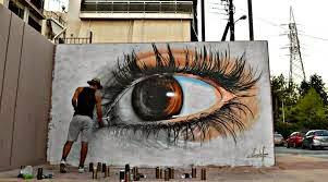 grafite de ojo