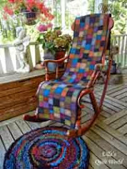 Rocking Chair cover and a rug+tutorial