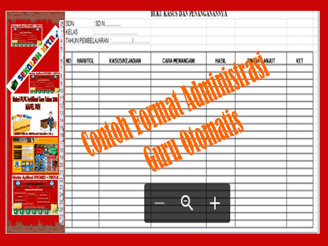 Download Contoh Format Buku Administrasi Guru Otomatis Versi Terbaru