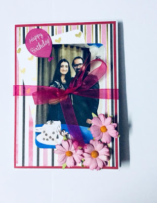 Handmade birthday card cum scrapbook