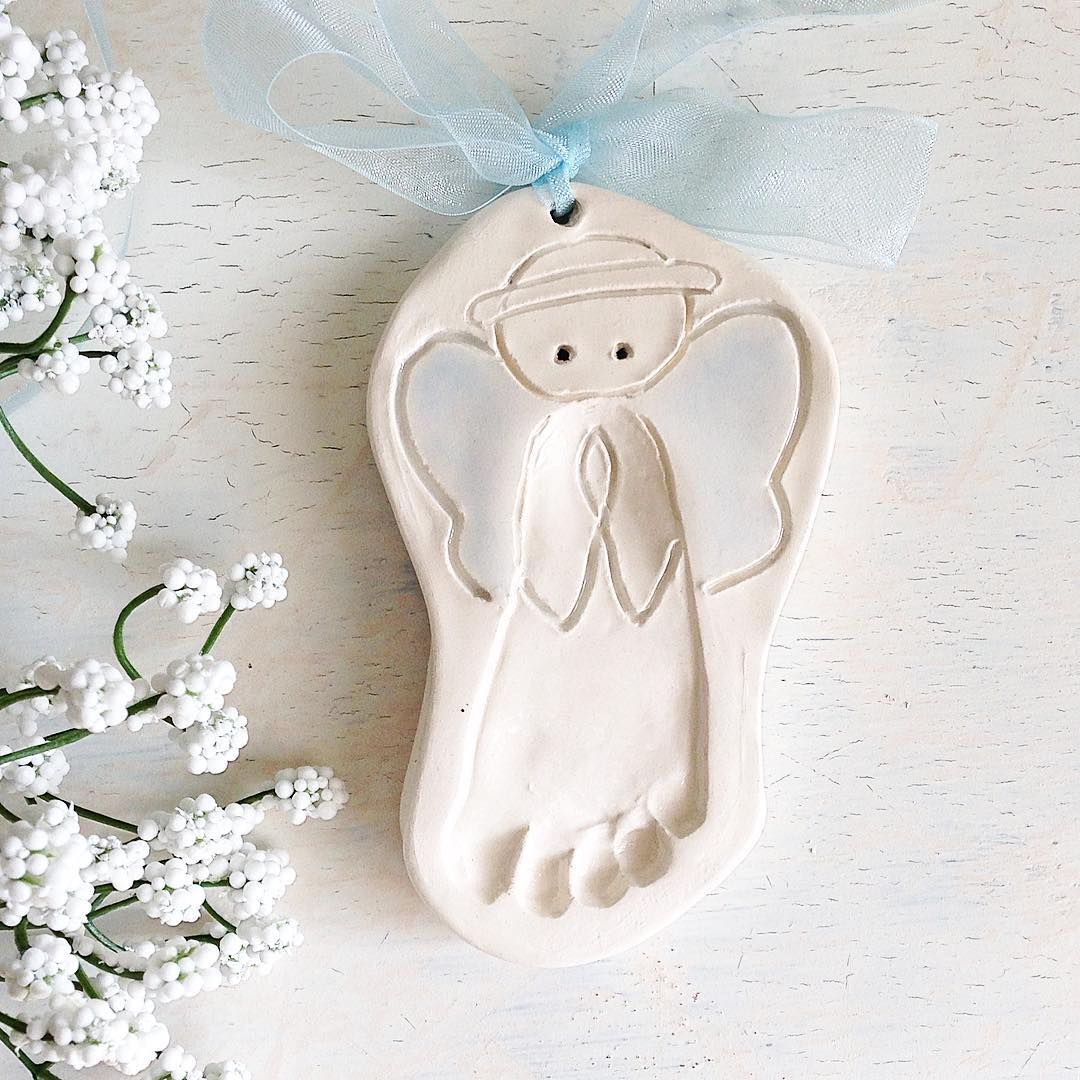 Thebabyhandprintcompany custom newborn keepsake newborn gift custom newborn keepsake newborn gift angel baby baby angel foot print ornament footprint angel ceramic print ceramic baby print baby memento negle Choice Image