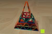 Turm: Playbees 100 Teile Magnetische Bausteine Set für 2D und 3D Form Konstruktionen, Regenbogenfarben Magnetspielzeug, Baukasten Magnetspiel, Magnetbausteine