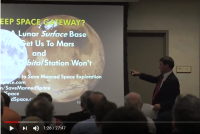 Art Harman's 2017 speech to the Mars Society: Lunar surface not orbit.