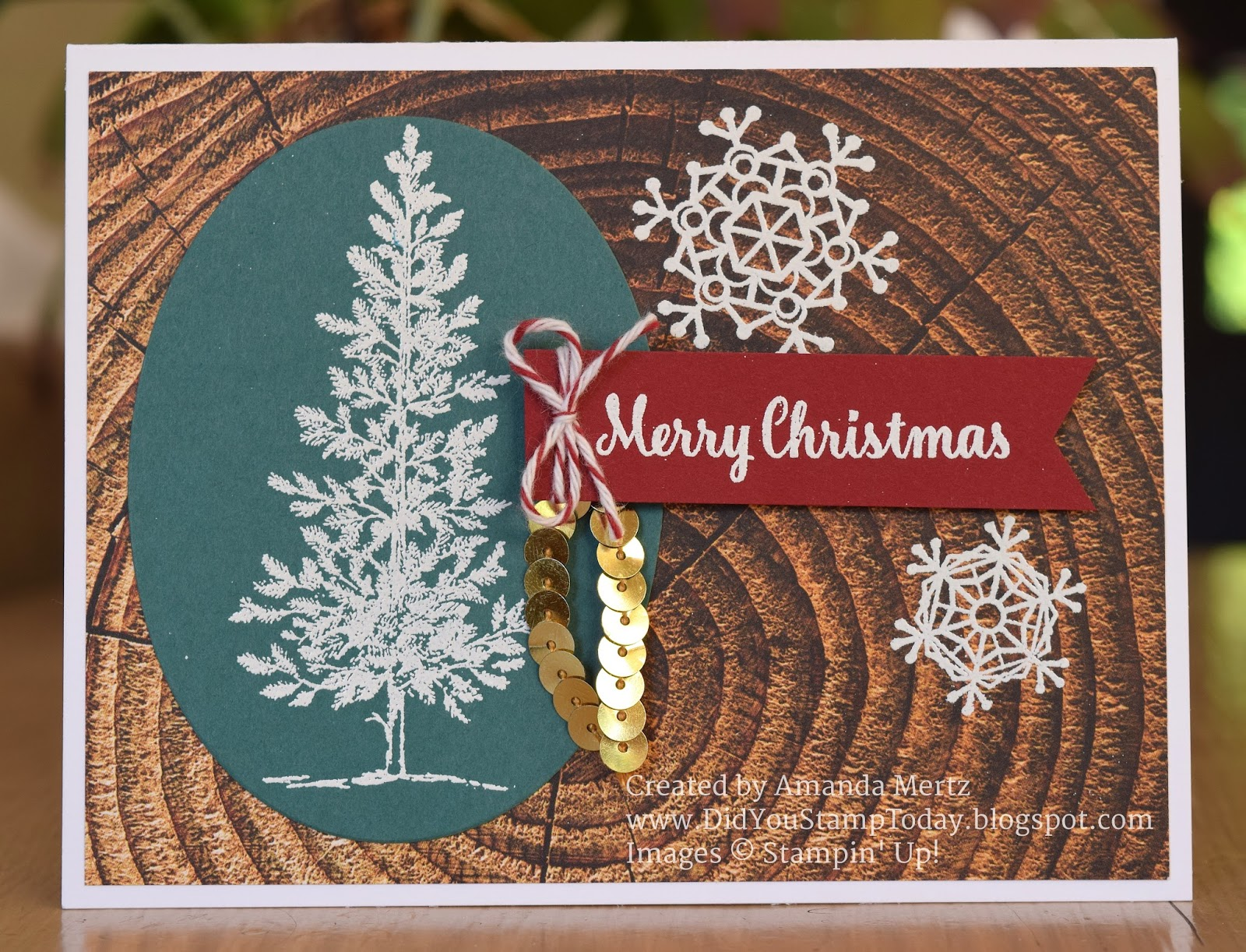Did You Stamp Today?: Rustic Christmas - Stampin\' Up! Lovely As A Tree