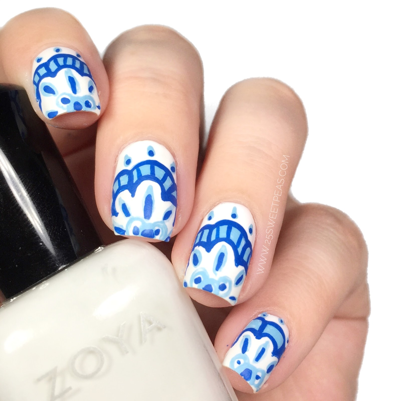 Instagram Designed Moroccan Tile Nails 25 Sweetpeas