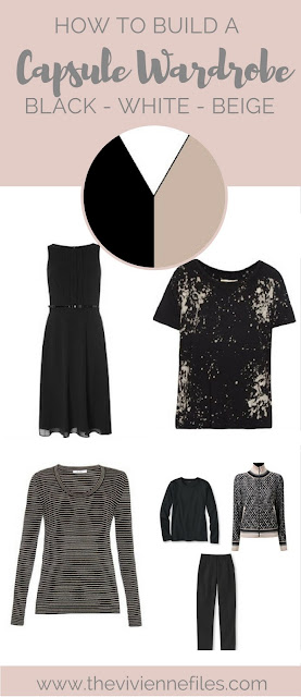 How to build a travel capsule wardrobe in a black, white, and beige color palette